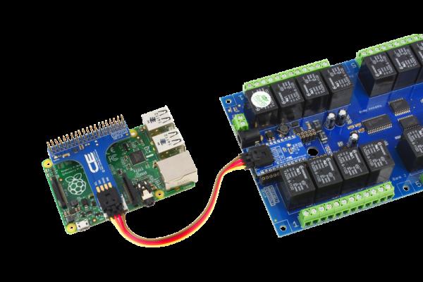 Raspberry Pi 2 Relay Shield using SI Adapter