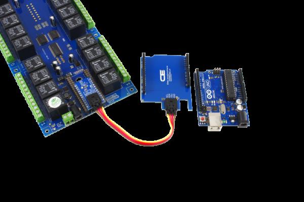 Arduino Uno Relay Shield using SI Adapter