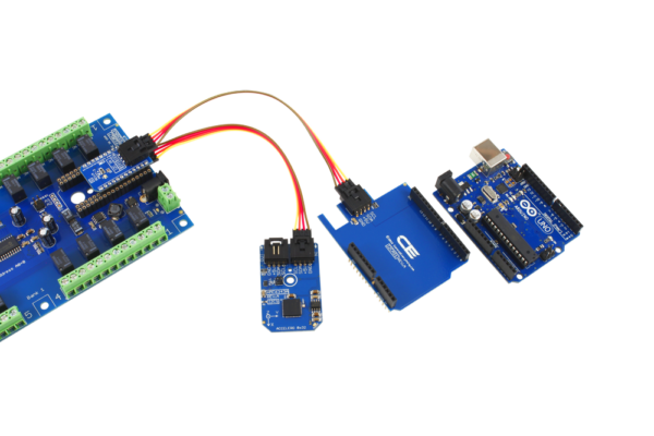 Arduino Uno Relay Shield and Accelerometer