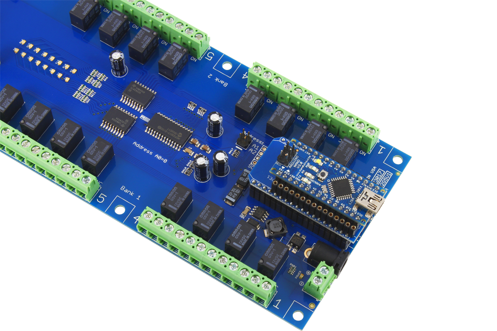 32-channel 1-amp Spdt Signal Relay Shield With Iot Interface