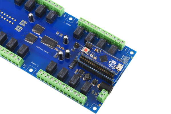 Relay Board for Arduino Micro using AM Adapter