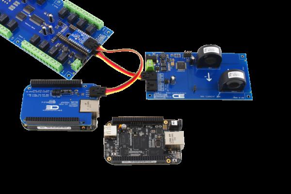 BeagleBone Current Monitoring and Relay Shield using SI Adapter