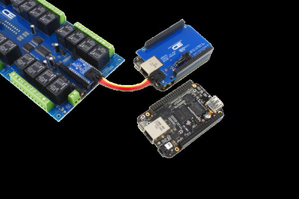 24-Channel Relay Shield with 8 GPIO I2C for BeagleBone