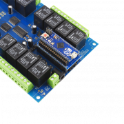 Relay Shield for Particle Electron I2C 24-Channel SPDT 10-Amp with Cellular and USB Interface + 8 Programmable GPIO