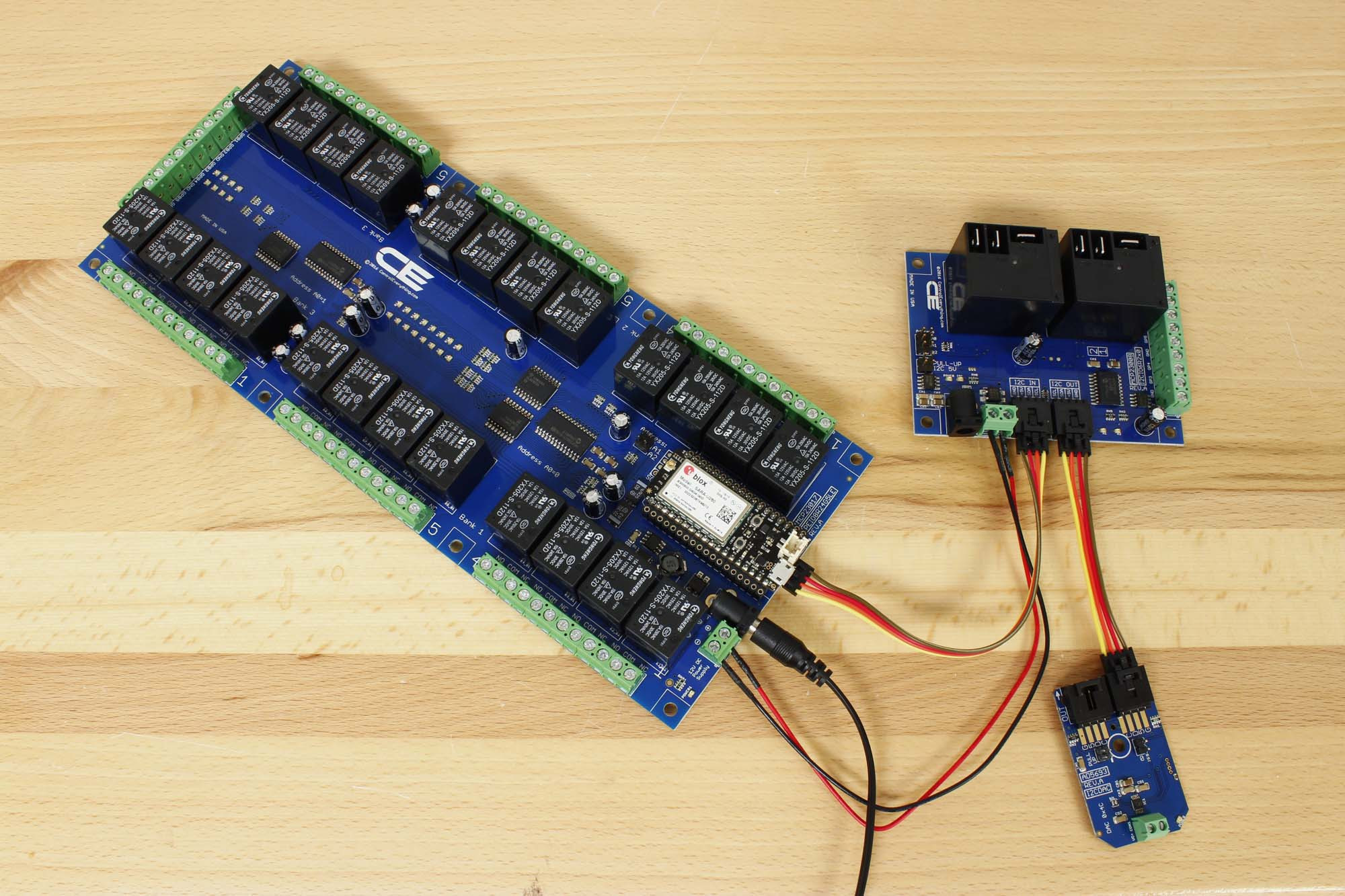 24 Channel General Purpose Spdt Relay Shield 8 Gpio With Iot Micro 12v 20 Amp Cellular Dac Two Boards And Using Electron