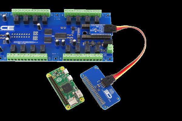Raspberry Pi I2C Relay Shield with 8 Digital Input Output GPIO
