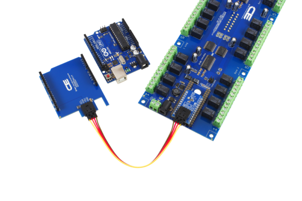 Relay Shield with 8 Digital Input Output I2C for Arduino Uno