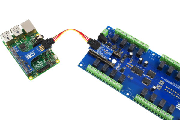 Raspberry Pi 3 I2C Expansion Relay Shield 24-Channel with GPIO