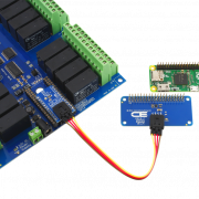 Raspberry Pi Zero Connected to I2C Relay Shield 24-Channel DPDT