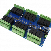 Relay Shield for Particle Electron I2C 24-Channel DPDT 5-Amp with Cellular and USB Interface + 8 Programmable GPIO