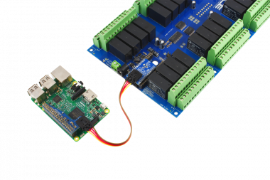 Raspberry Pi 3 Connected to Relay Shield using I2C Cable