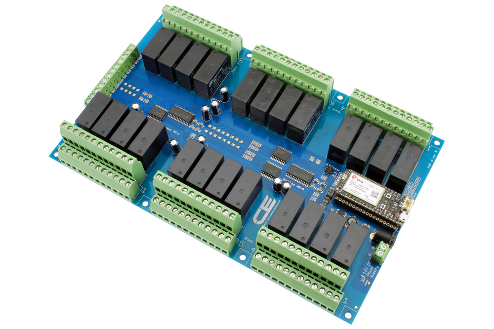 24-Channel DPDT Signal Relay Shield + 8 GPIO with IoT Interface ...