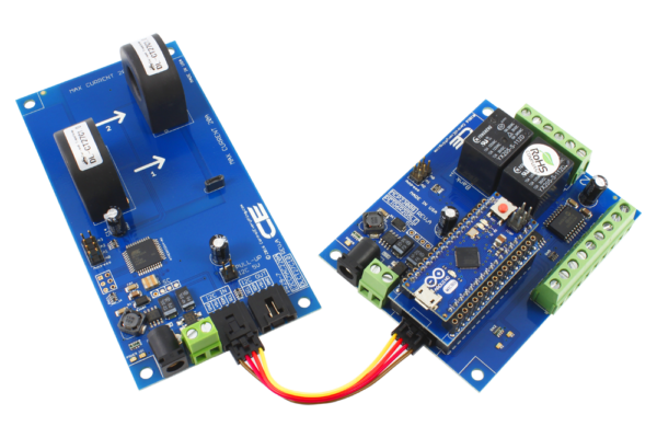 Arduino Micro Energy Monitoring with 2-Relay and 6 GPIO using I2C