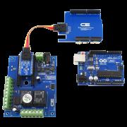 Arduino Uno I2C Shield and I2C 2-Relay Shield with 6 GPIO