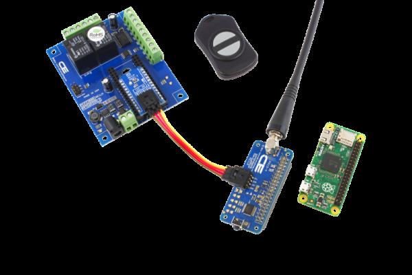 Raspberry Pi Zero Key Fob and I2C 2-Relay Shield with 6 GPIO