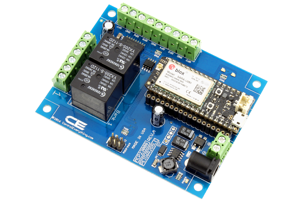 MCP23008_PEIO6R2G5LE_10A_A_1 2 channel general purpose spdt relay shield 6 gpio with iot Arduino I2C at cos-gaming.co