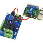 Raspberry Pi I2C Shield connects to 2-Channel DPDT Board with GPIO