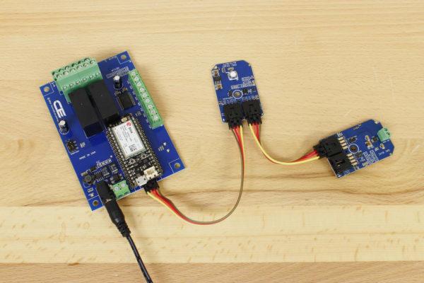 Cellular Pressure Sensor DAC and Relays using I2C Bus