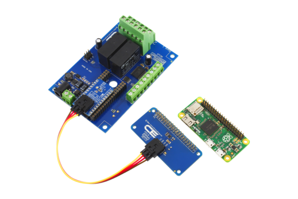 Pi Zero I2C Shield with 2 External DPDT Relays and 6 GPIO