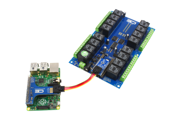 Raspberry Pi 3 Relay Shield with I2C Interface Adapter