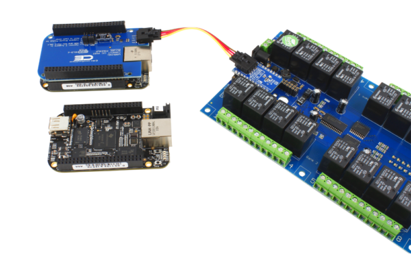 BeagleBoard Relay Shield with I2C Interface Adapter