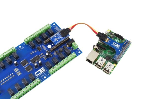 Raspberry Pi 3 Relay Board using SI Adapter 16-Channel SPDT