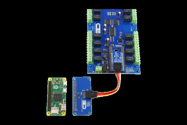 Relay Shield for Raspberry Pi Zero using SI Adapter