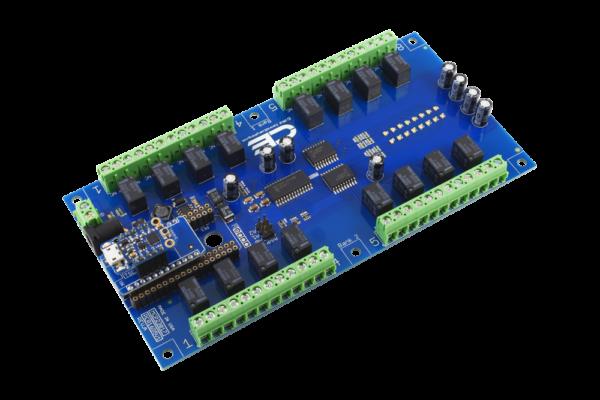 Trinket 16-Channel 1-Amp Relay Board using TK Adapter