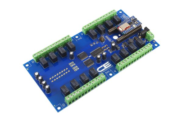 Bluz BLE 16-Channel 1 Amp Relay Board with Bluetooth Cloud Connection