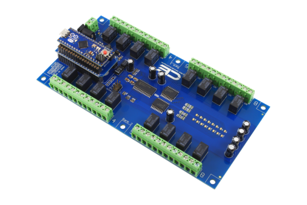 Arduino Micro 16-Channel 1 Amp Relay Board with AM Adapter