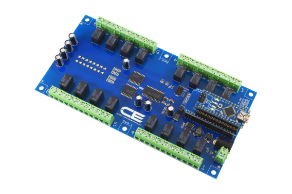Arduino Nano with AN Adapter Connected to 16-Channel SPDT Relays