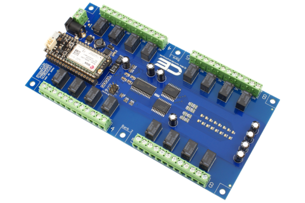 Cloud Controlled Relay Board using Particle Electron