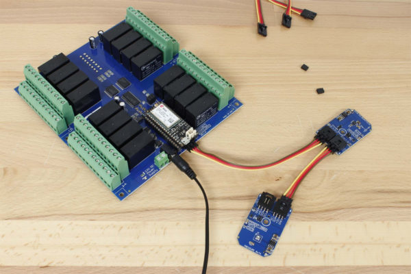 Cellular Pressure Sensor and Accelerometer with Relay Shield