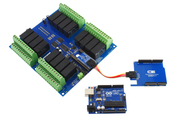 Relay Shield 16-Channel DPDT 5-Amp for Arduino Uno