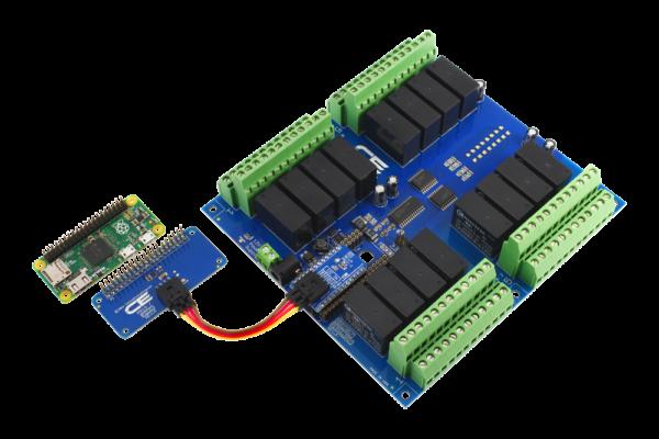Relay Shield DPDT 16-Channel Raspberry Pi Zero