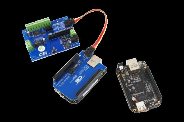 BeagleBone I2C Shield and 1-Channel 1-Amp SPDT Relay