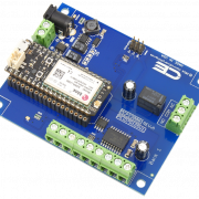 Relay Shield for Particle Electron I2C 1-Channel SPDT 1-Amp Signal Relay with Cellular and USB Interface + 7 Programmable GPIO