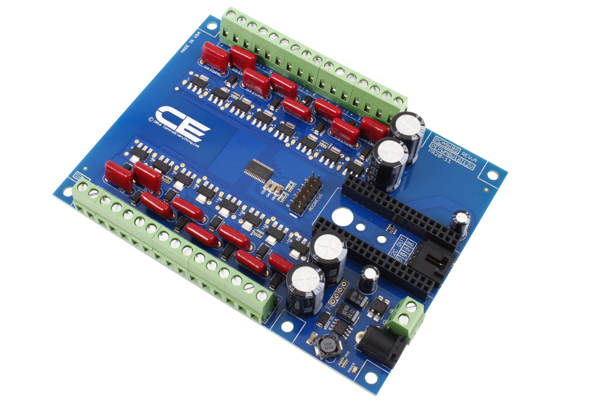 PCA9685 16-Channel 8W 12V FET Driver Proportional Valve Controller with IoT  Interface