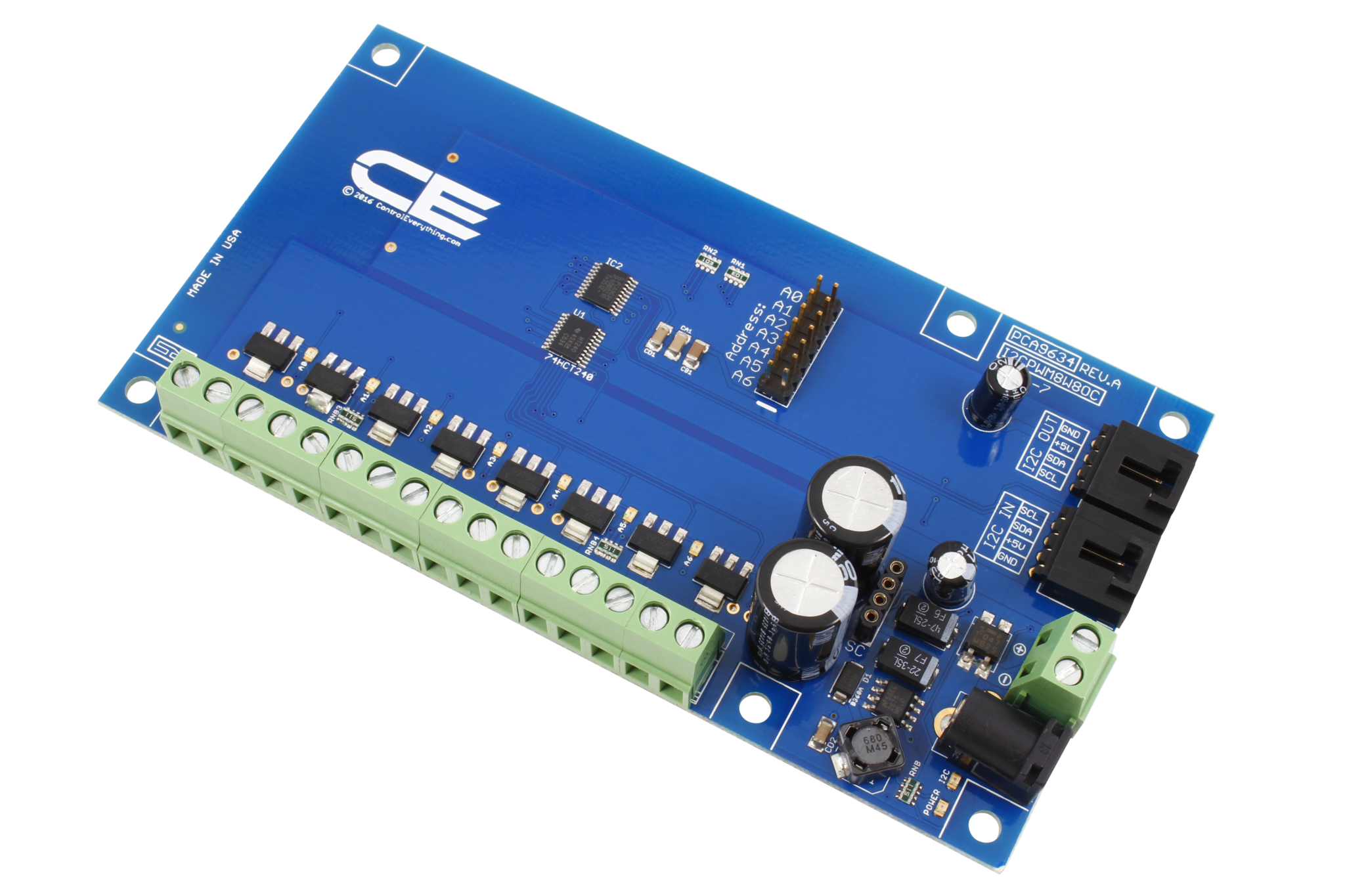 Pca9634 8 Channel 8w Open Collector Bit Pwm Fet Driver With I2c Driving N Mosfets A Microcontroller