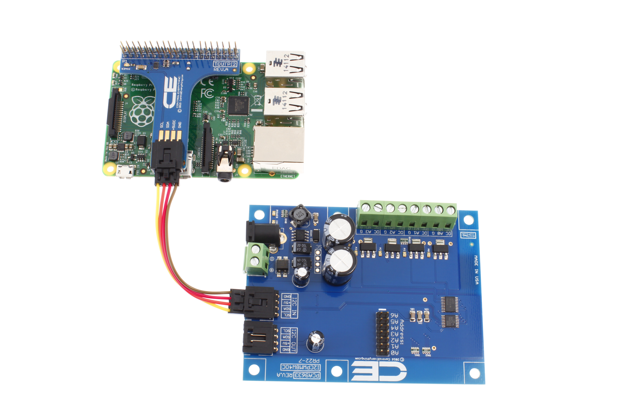 PCA9633 4-Channel 8W Open Collector 8-Bit PWM FET Driver with I2C Interface  - store ncd io