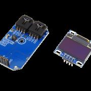 "I2C Blue OLED 128x64 Graphic Display .900"" I2C Mini Module"