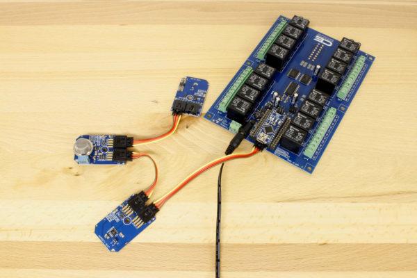 Hydrogen Sensor MQ-8 Gas Controlled Relay Shield Arduino