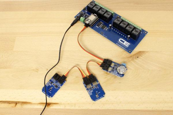 High Accuracy Temperature Sensor MCP9803 With Particle Relay Controller