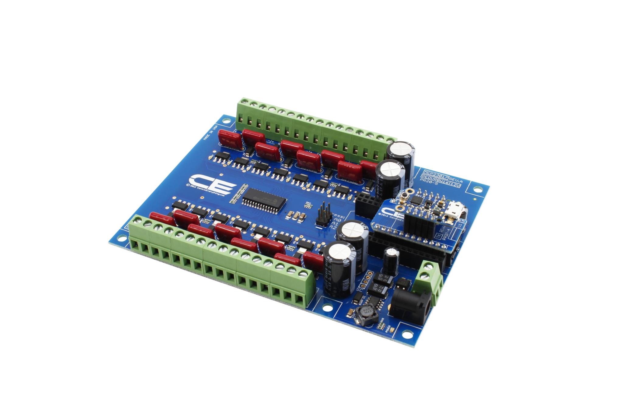 MCP23017 16-Channel 8W 12V FET Solenoid Driver Valve Controller with IoT  Interface - store ncd io