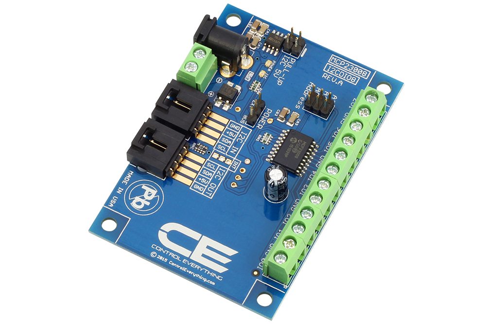 MCP23008 8-Channel Digital Input Output with I2C Interface - store ncd io