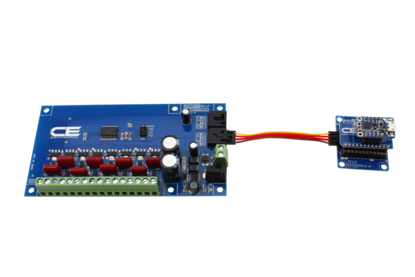 MCP23008 8-Channel 8W 12V FET Solenoid Driver Valve Controller with Cross-Platform I2C Interface