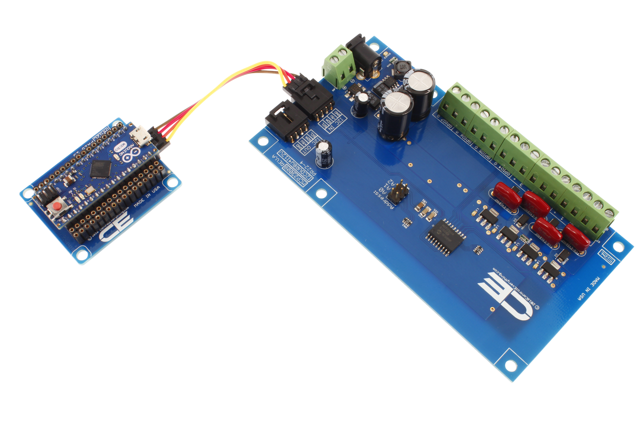 Mcp23008 4 Channel 8w 12v Fet Solenoid Driver Valve Controller Arduino Circuit To Control 1 Cylinder 2 Valves Using Gpio With
