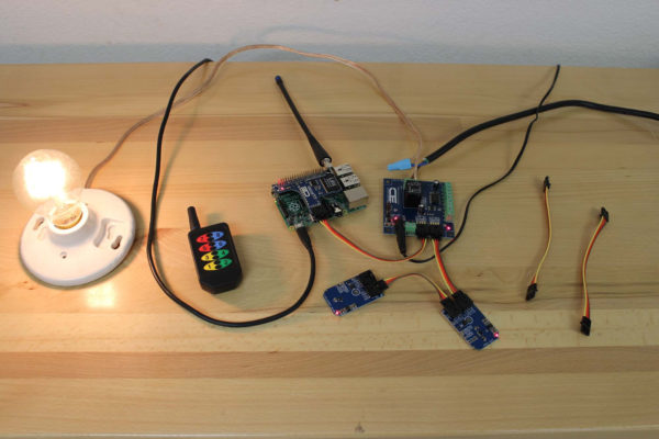 Raspberry Pi Controlled Light with Key Fob and I2C Sensors