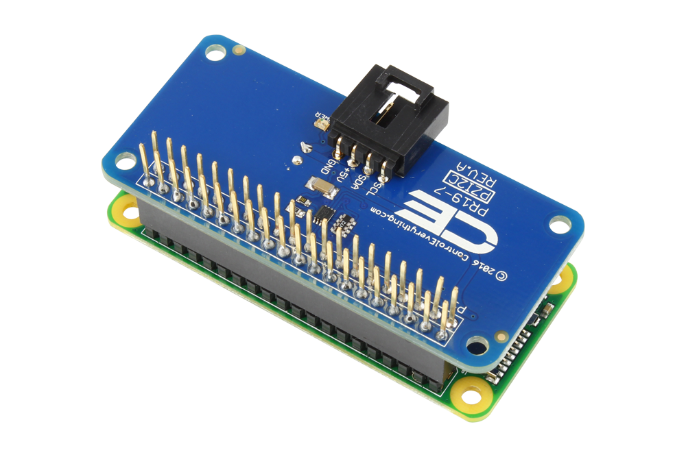 I2C Shield for Raspberry Pi Zero with Outward Facing I2C Port - store ncd io