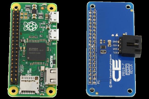 I2C Shield with same footprint as Raspberry Pi Zero